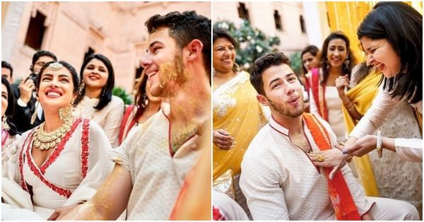 Nick & Priyanka Just Can't Stop Smiling In These New Pictures From Their Haldi Ceremony!