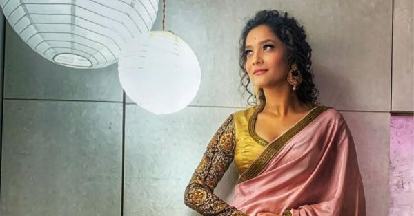 Desi Girl: Ankita Lokhande Styled Her Curls Perfectly For A *Romantic* Sari Look!