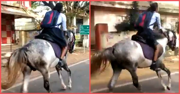 Desi Wonder Woman: Class 10 Girl Rides A Horse To School For The Final Exam & Video Goes Viral