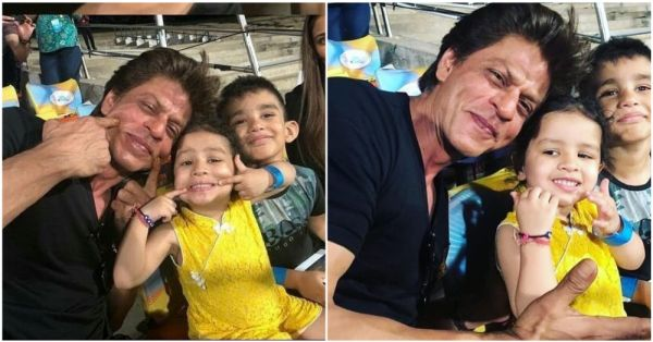 Cuteness Alert: These Pics Of Shah Rukh Khan With Dhoni's Daughter Ziva Are Just Too Adorable!