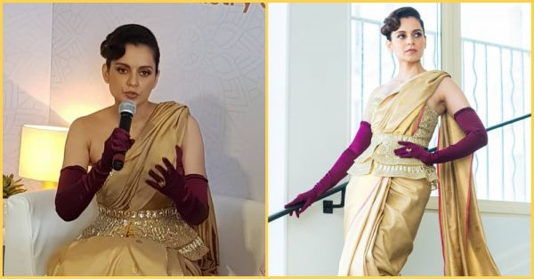 All That Glitters Is Gold: Kangana Ranaut Sparkles In A Kanjivaram Saree At The Cannes Film Festival