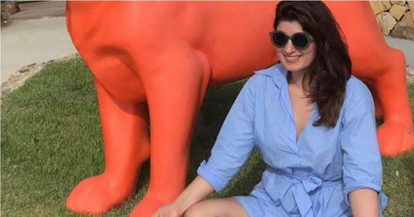Twinkle Khanna Is Twinning With PM Narendra Modi With Her Meditation Picture