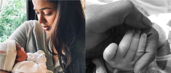 Sameera Reddy Shares The First Picture Of Her Newborn Daughter With An Adorable Caption