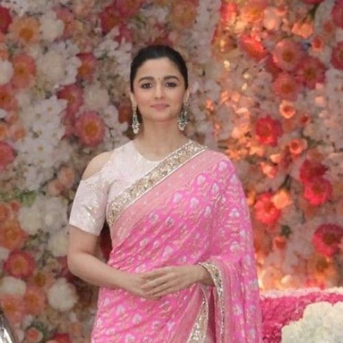 Alia Bhatt In Classic Cold Shoulder High Neck  Blouse