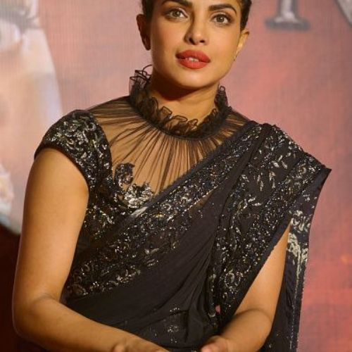 Priyanka chopra in collar neck blouse