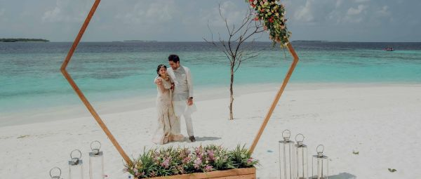This Couple Booked An Entire Island In The Maldives For Their Wedding & It Was *Magical*