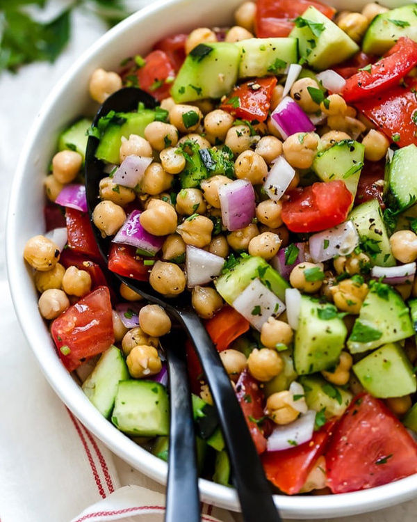 chickpeas with salad a healthy snack for everyone