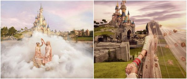 Inside The Disneyland Wedding Featuring Goofy On Dhol, Castles & A Dreamy Proposal