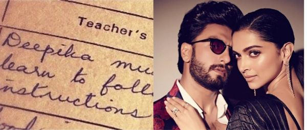 Ranveer Singh Calls Wifey Deepika 'Troublemaker' After She Posts Old Report Cards