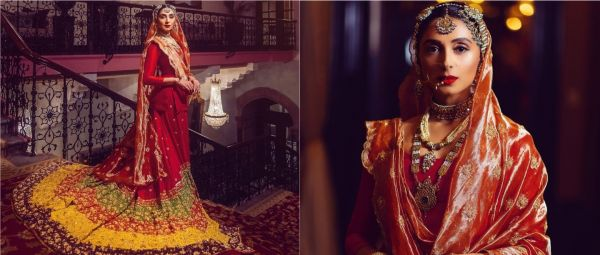 Pernia Qureshi Wore Her Mom's Wedding Gharara That Was Hand-Stitched By Her Nani