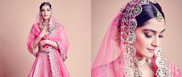 Spotted: Sonam Kapoor Looking Like An Absolute Goddess In A Pink Bridal Lehenga