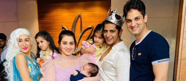 Karanvir Bohra Throws A Halloween-Themed Birthday Bash For His Twins & It's Spooky