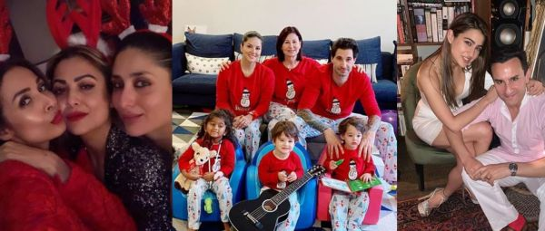 Bollywood Paints The Town Red As They Ring In Christmas With Family And Friends!