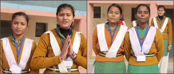 Girls From Delhi School Celebrate Diversity & Wish New Year To The World In 18 Languages