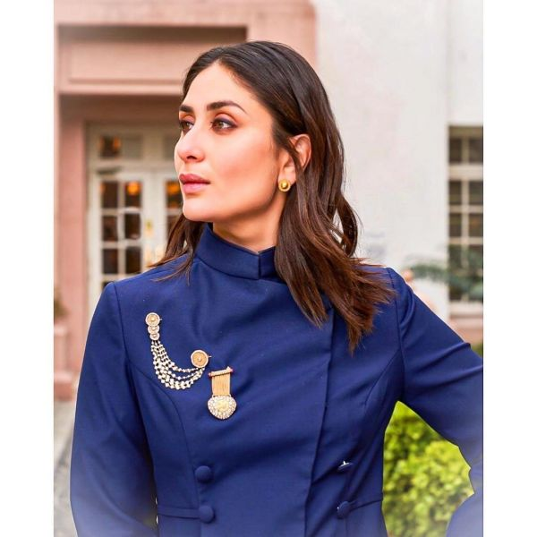 Kareena Kapoor wearing a traditional indian wear with brooches