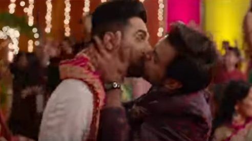 ayushmann khurrana and jitendra kiss