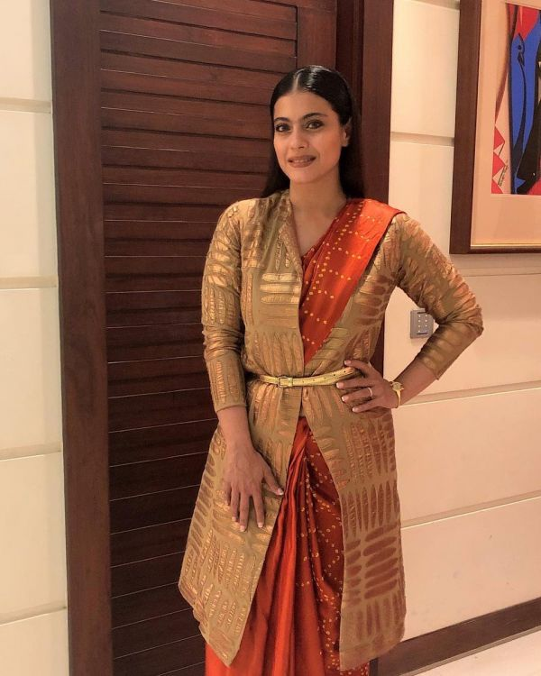 winter jackets to wear with sarees