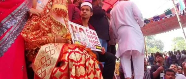 No CAA, NRC: Protest Site Turned Into A Wedding Venue For This Chennai Couple
