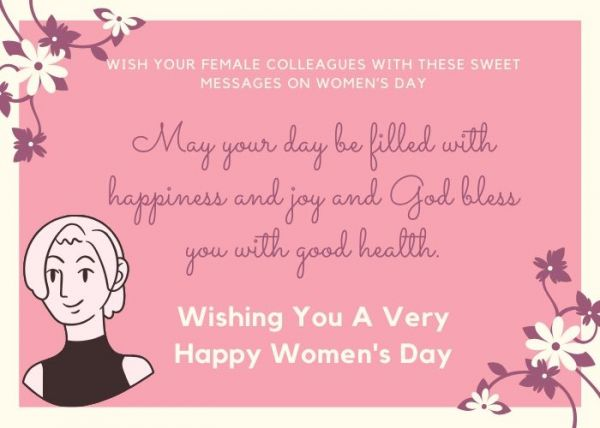 women's day messages for office colleagues