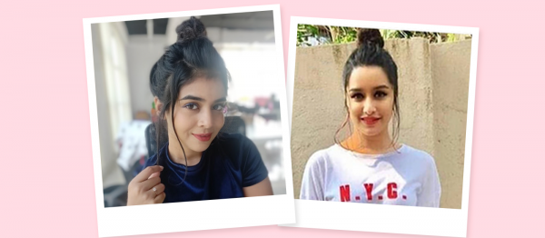 5 Minute Updo: Watch Me Recreate Shraddha Kapoor's Messy Topknot!