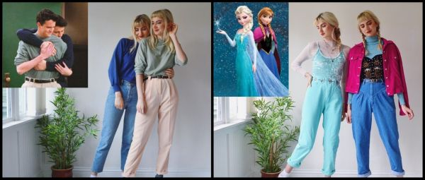 From Friends To Frozen, Twin Sisters Give Fictional Looks Their Own Vintage Spin