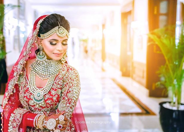 a bride portrait clicked by Coolbluez Photography