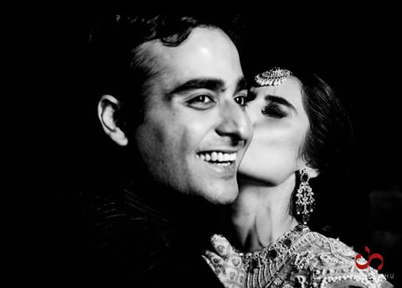 a black and white couple photography by karan sidhu photography