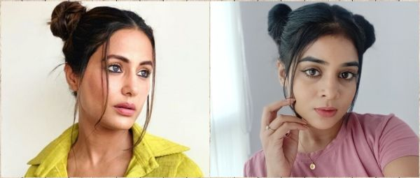 5 Minute Updo: Watch Me Recreate Hina Khan's Adorable Space Buns!