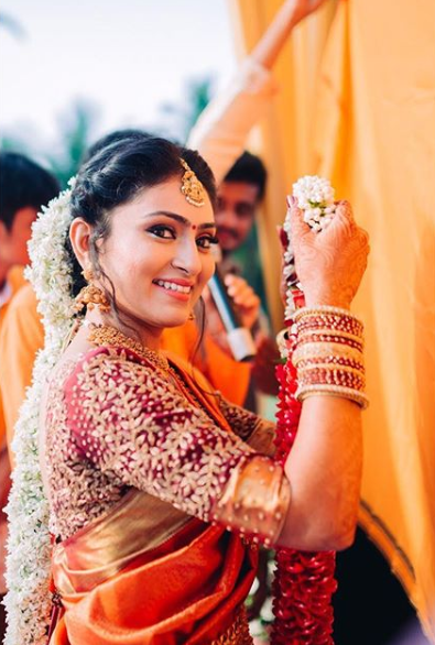 Gajra hairstyle for south indian bride