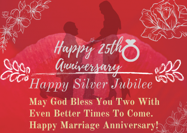Silver Jubilee Wishes