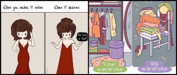 15 Cute Fashion Illustrations That Have 'Relatable AF' Written All Over Them