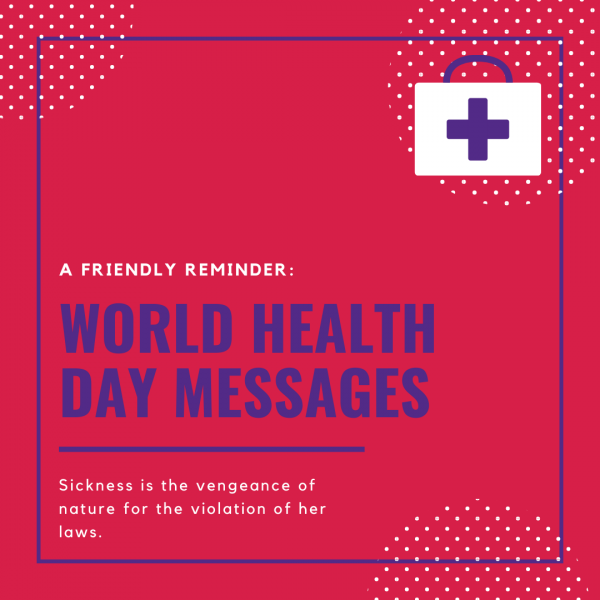 World Health Day Messages 2020 images