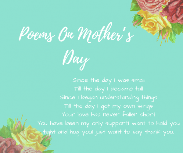 Poems On Mother's Day