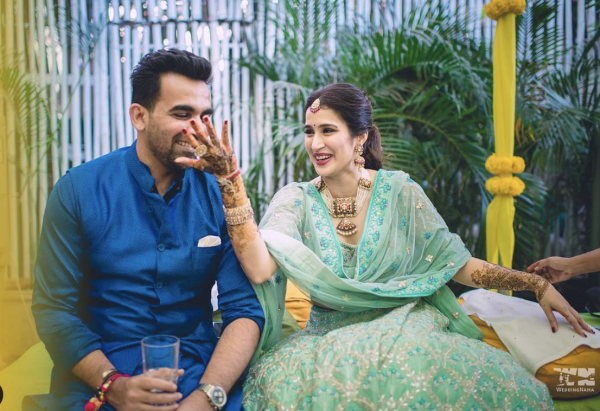 Wedding nama- Picture of famous cricketer on his wedding day
