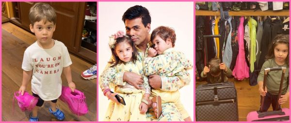 Karan Johar's Lockdown Days With Kids Yash & Roohi Give Us An Insight Into His Huge Closet