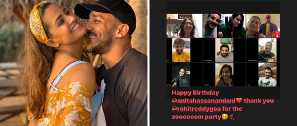 #CoupleGoals: Rohit Reddy Throws A Virtual B'day Party For Wifey Anita Hassanandani