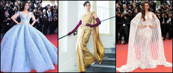 7 Times Bollywood's Red Carpet Looks At Cannes Left An Unforgettable Impression On Us