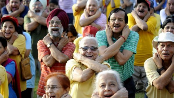 How to practice laughter yoga