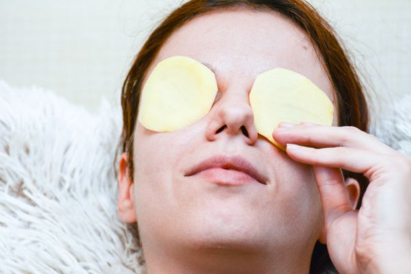 Girl After applying Potato Face pack