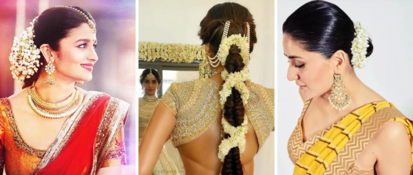 15 Gajra Hairstyles That You Can Pull Off With Any Indian Outfit!