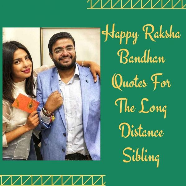 Rakhi Messages for the long distance siblings