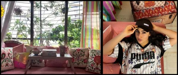 Sara Ali Khan Shows Her Fave Nook In The House & We're Loving That Pop Of Colour