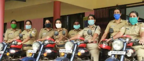 An All-Women Police Squad Riding Bullets Will Be On COVID-19 Duty In Kerala