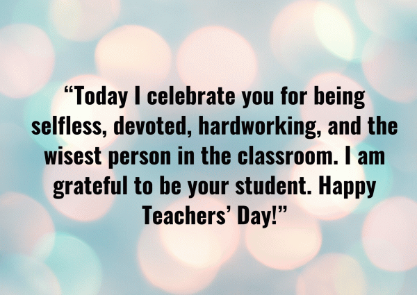 Happy Teachers' Day Messages
