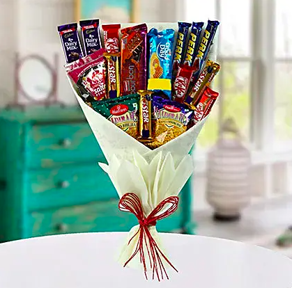 snack bouquet as best rakhi gift for your brother