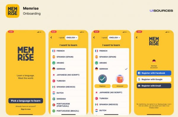 Memrise to learn french language learning app