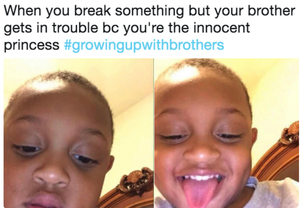 blaming your brother - cute memes on brother