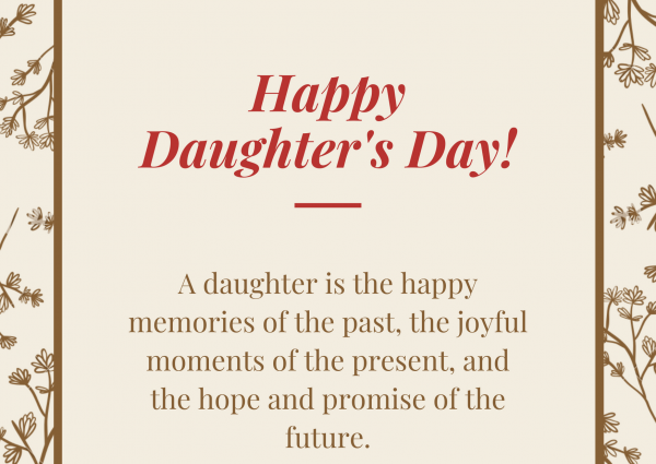 ALT Text: daughters day messages and images