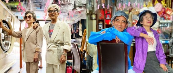 Meet The Instagram-Famous Grandparents Who Turned Forgotten Laundry Into A Style Statement