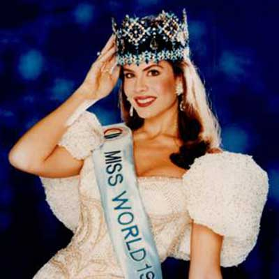 Miss World 1990– Gina Tolleson